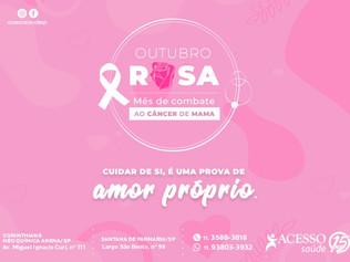 Outubro Rosa: entenda tudo sobre o Câncer de mama, prevenção, diagnóstico e tratamento