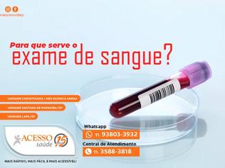 Para que serve o exame de sangue?
