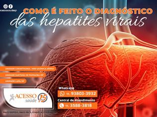 Como é feito o diagnóstico das hepatites virais