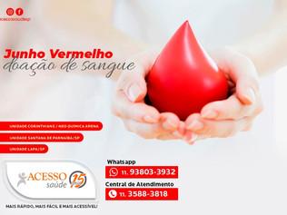 Junho Vermelho - doar sangue salva vidas