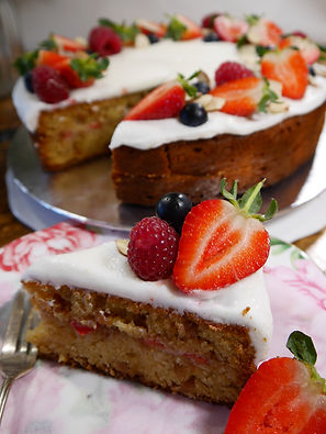 Fig & Raspberry Tea Cake