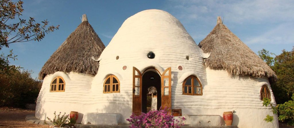 Building green homes with Superadobe in Valladolid Yucatan