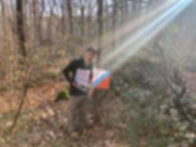 Sun shining on participant at Huntington State Park