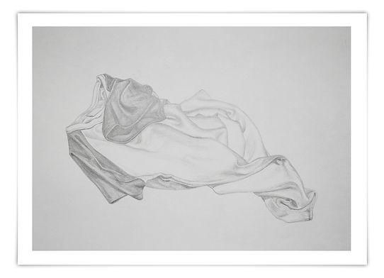 Zeichnung Sketch Bleistift T-Shirt Falten Schatten Schattierung