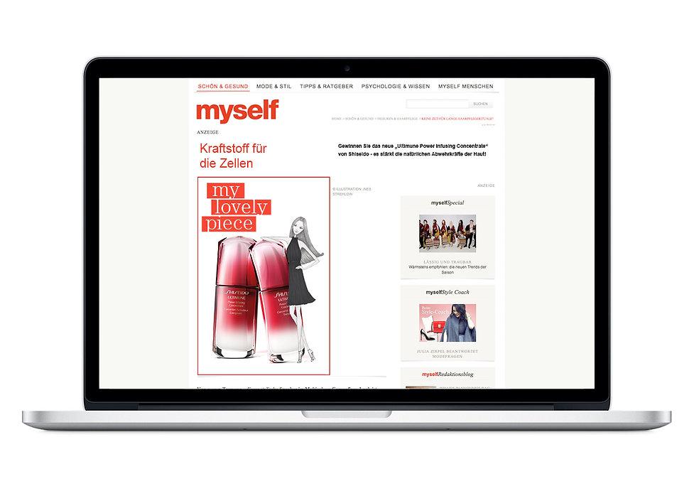 Illustration Modeillustration myself Conde Nast Verlag Shiseido Web