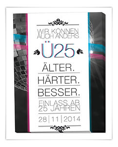 Flyer Plakat Veranstaltung Werbemittel Yum Club Augsburg Ü25