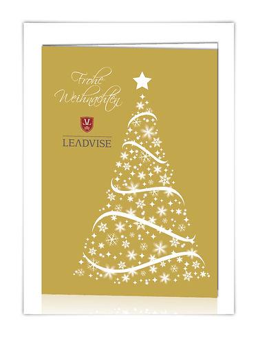 Weihnachtskarte Grußkarte Leadvise 2014