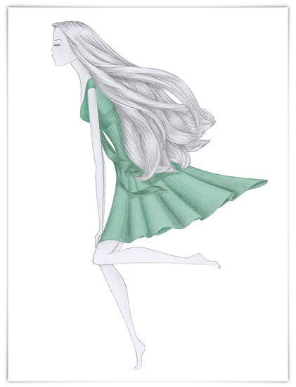 Illustration Modeillustration myself Conde Nast Verlag Lacoste