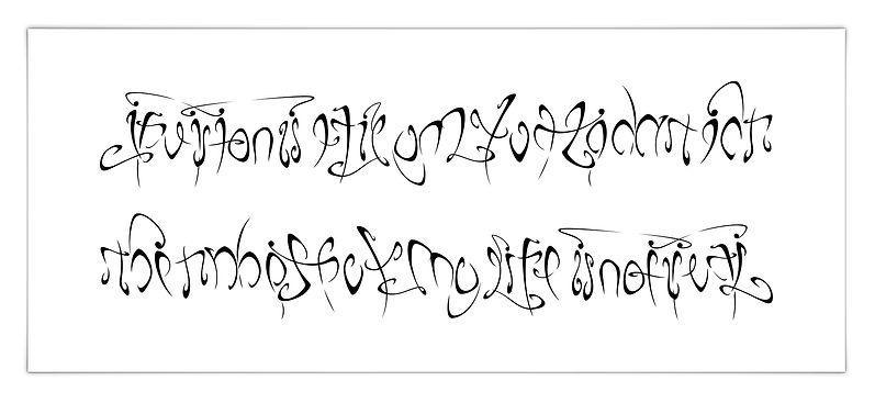 freie Kalligrafie Calligraphy Ambigramm Tattoo