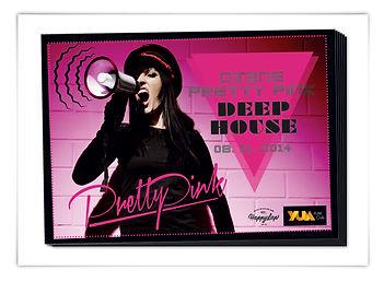 Flyer Plakat Veranstaltung Werbemittel Yum Club Augsburg Deep House Pretty Pink