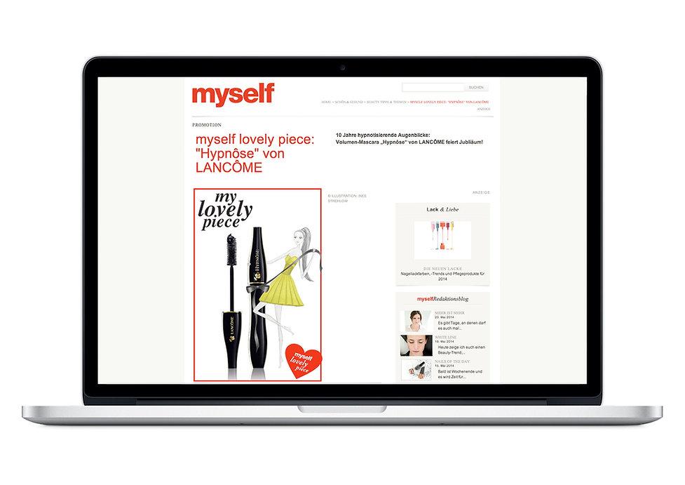 Illustration Modeillustration myself Conde Nast Verlag Lancome Web