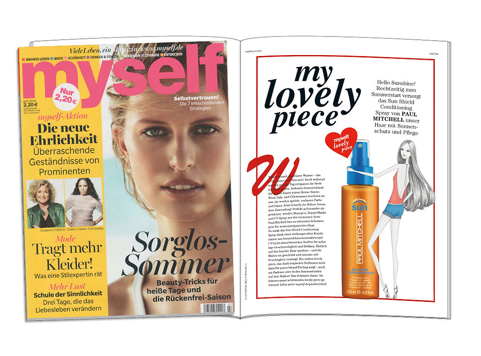 Illustration Modeillustration myself Conde Nast Verlag Paul Mitchell Print