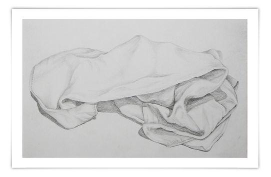 Zeichnung Sketch Bleistift Tuch Falten Schatten Schattierung