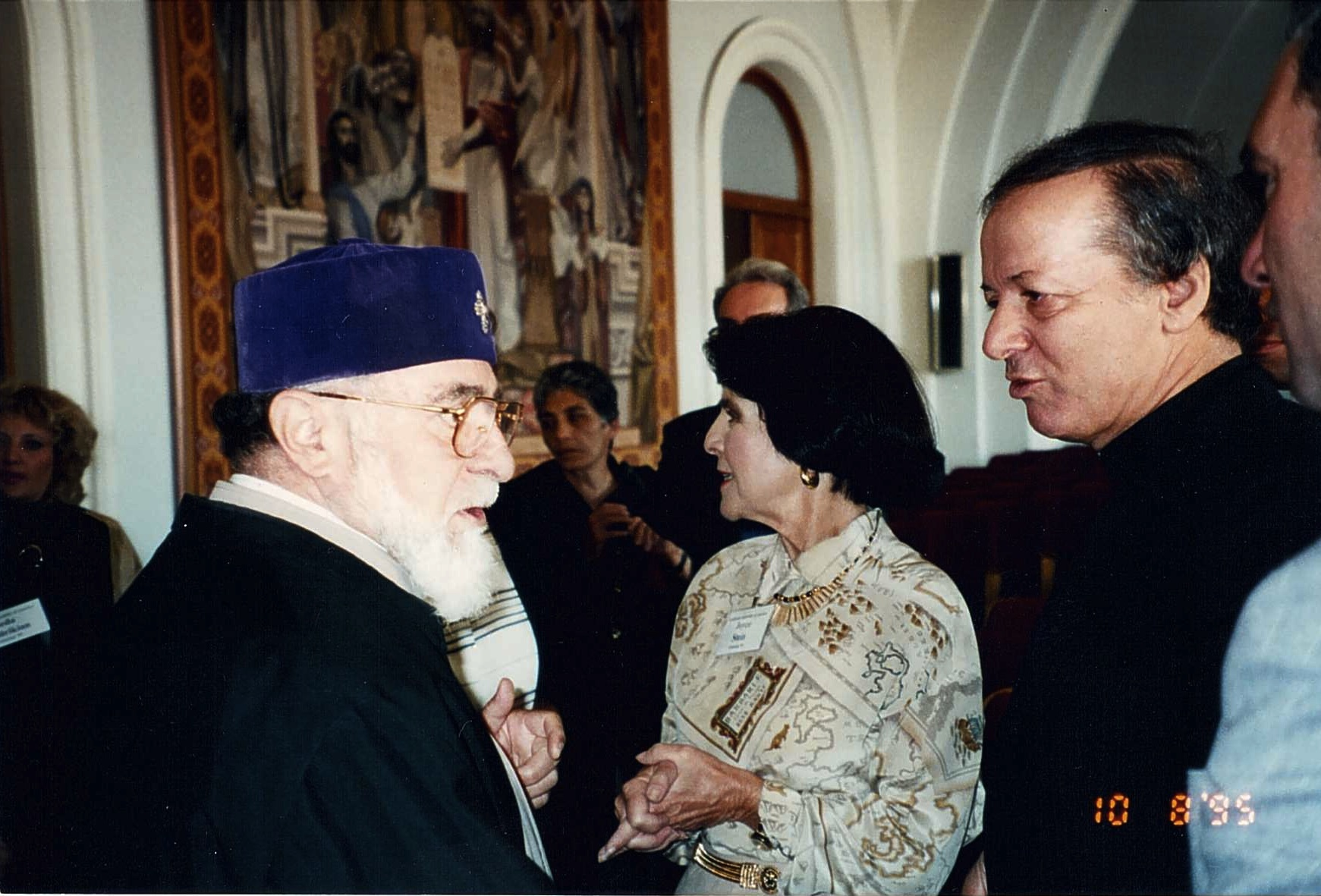 His Holiness Karekin the first with Benefactor Joyce Stein.jpg