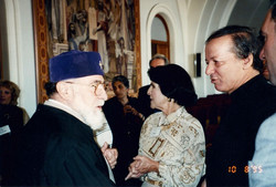 His Holiness Karekin the first with Benefactor Joyce Stein.jpg