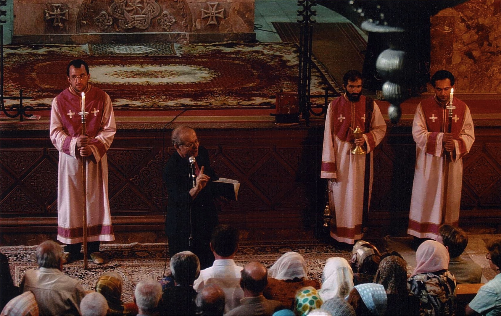 Preaching at Saint Sarkis church in Yerevan.jpg