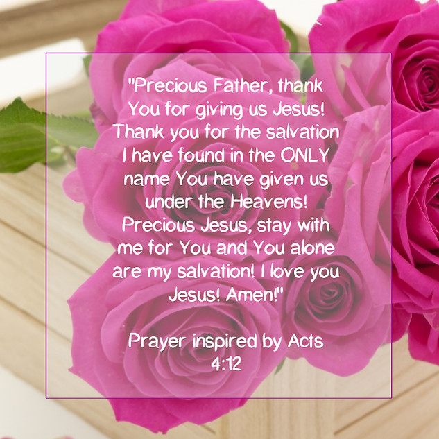 Prayer of Thanks for Jesus' Salvation.
