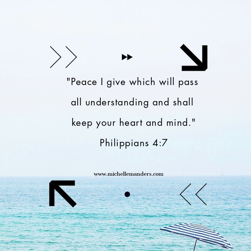 Peace of mind is found in Jesus.