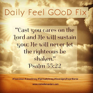 Cast your cares on the Lord.