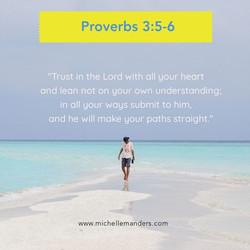 God wants us to trust Him.