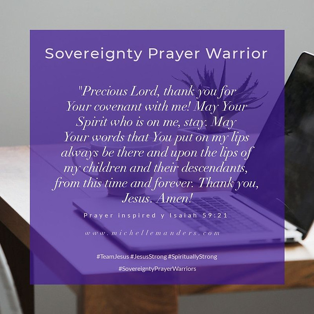 Prayer For the Lord's Covenant