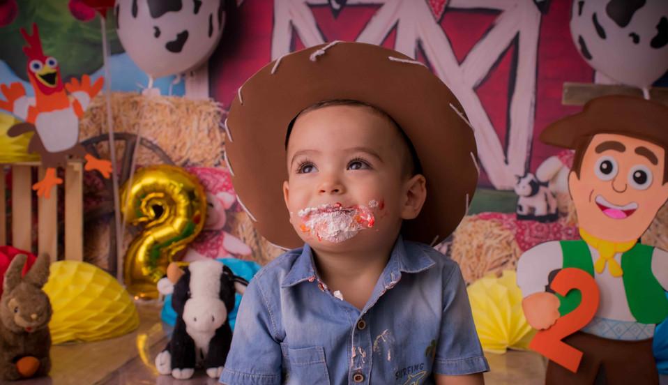 Fotografía de cumpleaños granja