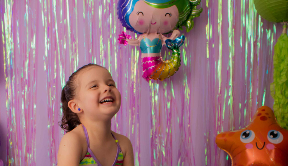 Fotografía de cumpleaños sirena