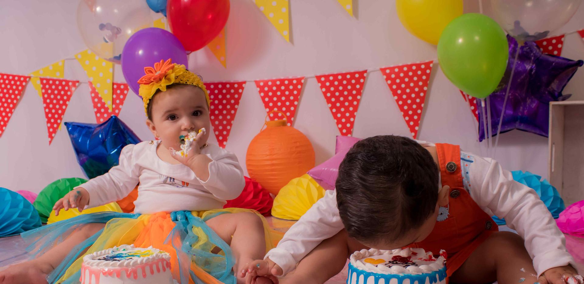 Fotografía de cumpleaños gemelos