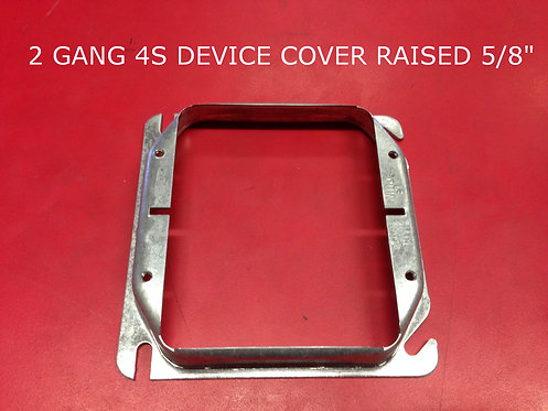 2 Gang 4S Device Cover Raised 5/8""