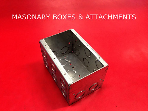 Masonary Boxes And Attachments