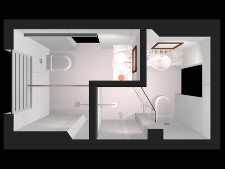 """Obra """"AB37"""" : Soluções para a divisão do Banheiro"""