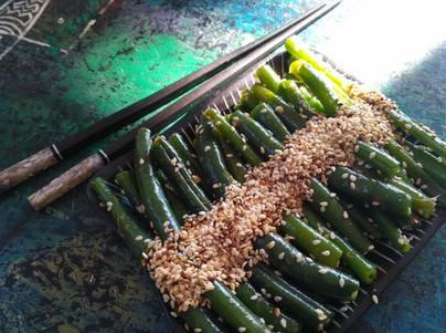 שעועית ירוקה ברוטב ג'ינג'ר ושומשום