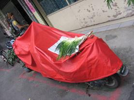 אוכל מונח לייבוש ברחוב.
