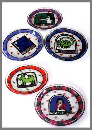 עיצוב לצלחות זכוכית בשיתוף עם זכוכית נהריה, 1992-1998