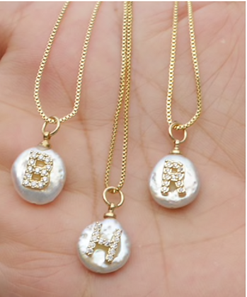 Nacre Initial Necklace
