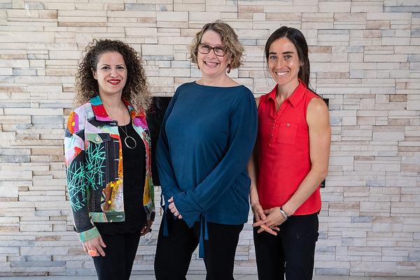 Dr. Rima Azar, Dr. Alison Luke, and Dr. Shelley Doucet