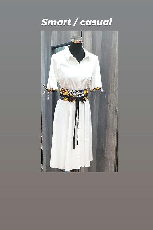 Obi Belt Dress