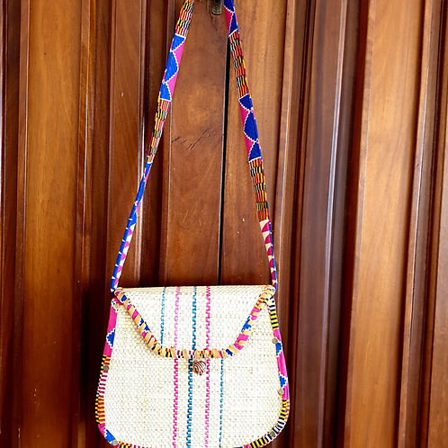 Raffia Kente Handbag