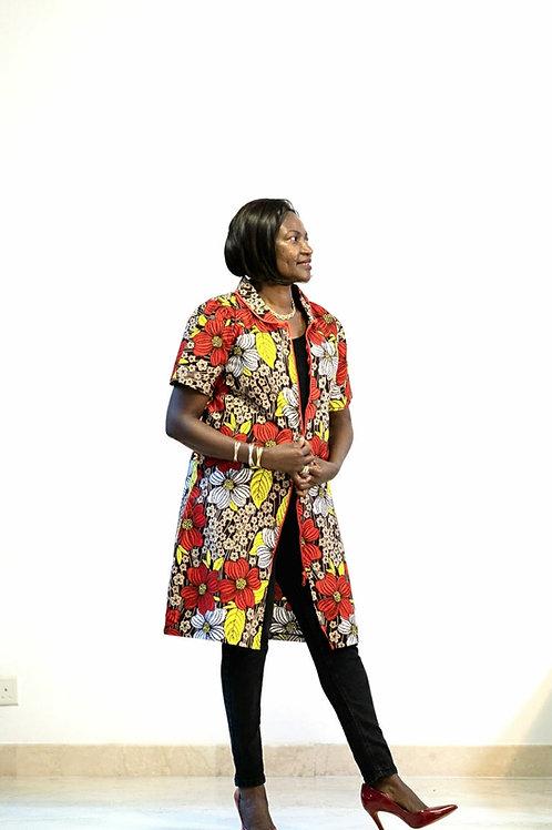 Floral Ankara Jacket/& Dress