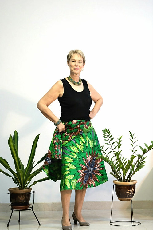 Green Garden Wrap Skirt
