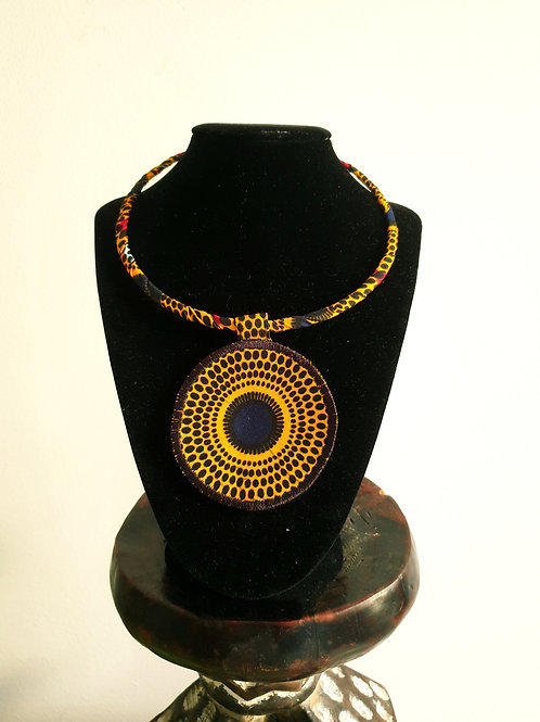 Yellow Record Necklace