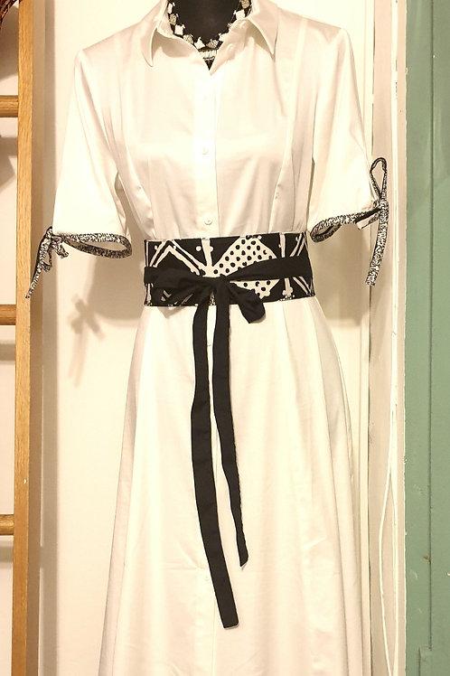 Black & White Belted Dress