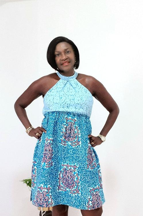 Lace Ankara Dress