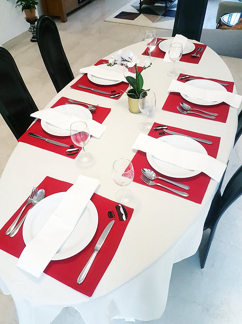 Red Calabash Placemats (6)