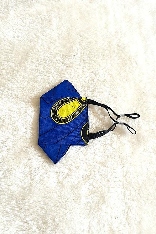 3D Yellow Bulb Ankara Mask