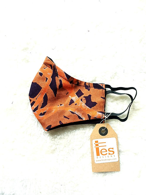 Orange Batik Mask