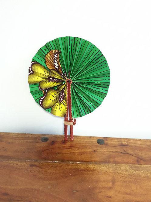 Green Petals Fan