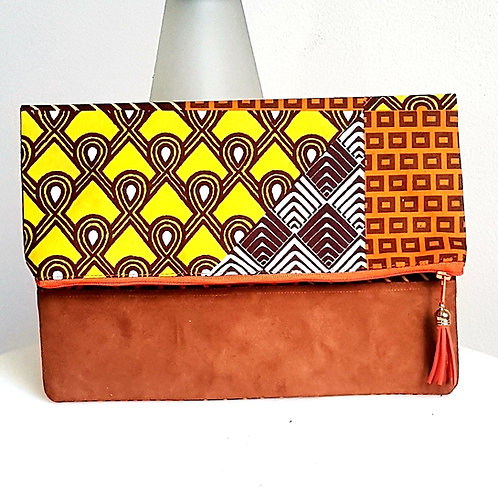 Patchwork Print Clutch