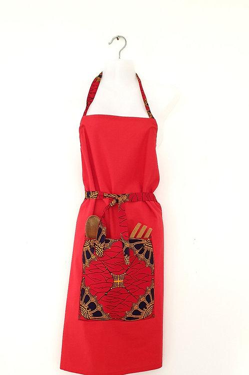 Red Ankara Apron