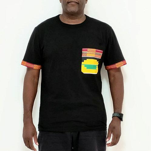 Kente Print T-shirt (Orange)